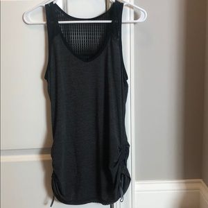 Black Lululemon tank top with side rouching